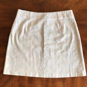Cachè snake print tan cream mini skirt EUC